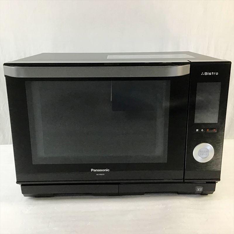 中古品 パナソニック Panasonic NE-BS655 格安 価格でご提供いたします ビストロ ブラック スチームオーブンレンジ 2018年製 26L 10008538 セールSALE%OFF