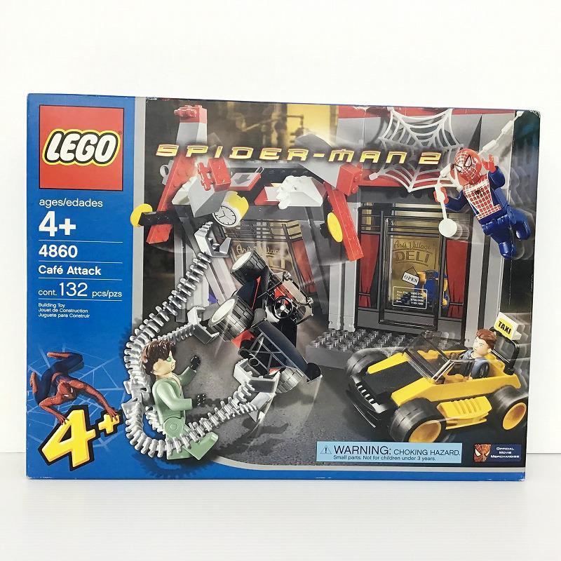 未使用中古品 未開封 レゴ SALE 買収 LEGO 4860 Cafe スパイダーマン2 カフェ襲撃 Attack ブロック 10009201