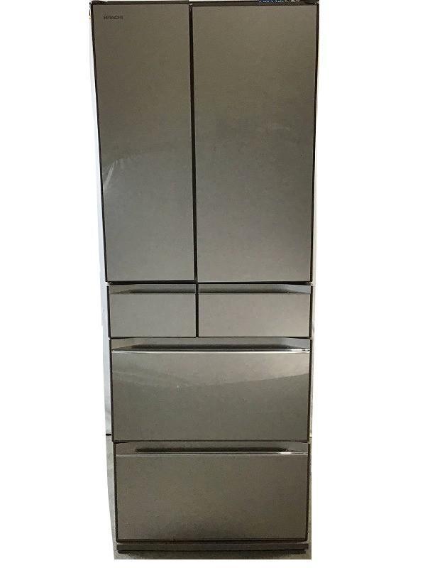 訳あり品 在庫一掃売り切りセール 中古品 日立 HITACHI R-KW57K 6ドア冷蔵庫 定番から日本未入荷 567L 10010233 2019年製 フレンチドア ファインシャンパン