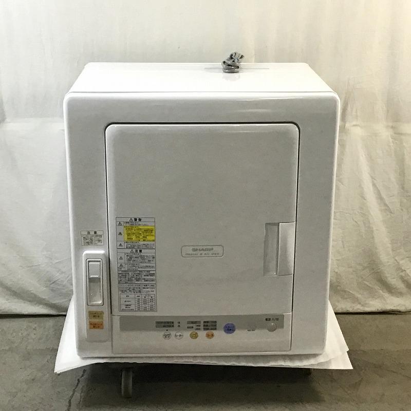 高級な 中古品 シャープ SHARP KD-55F-W 衣類乾燥機 乾燥機 ノーダクト 10010653 2018年製 左開き 除湿タイプ ホワイト系 5.5kg 推奨