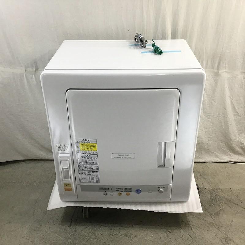 オーバーのアイテム取扱☆ 中古品 シャープ SHARP KD-55F-W 春の新作 衣類乾燥機 乾燥機 ノーダクト 左開き 10010654 ホワイト系 2018年製 5.5kg 除湿タイプ