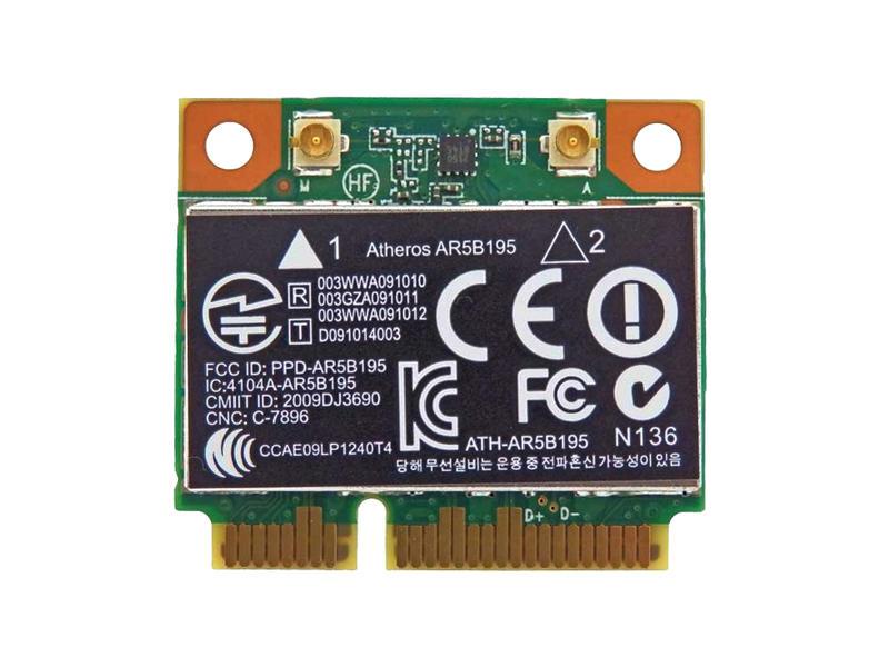 ノートパソコン用WiFi Bluetoothアダプタ WLC02020 HP純正 593127-001 + 汎用 AR5B195 802.11b g n Bluetooth 3.0 PCIe Mini 4530s ProBook 100%品質保証 dv7 4330s 4230s お気に入り dv4 HP 4431s 4430s 4730s for 無線LANカード Pavilion dv6 half