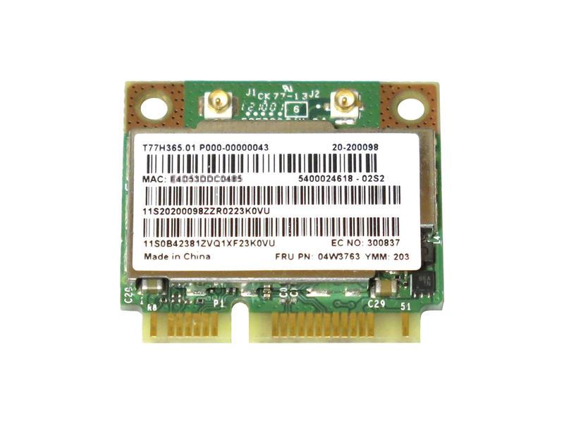 ノートパソコン用WiFi Bluetoothアダプタ WLC03030 Lenovo純正 04W3763 04W3764 Broadcom BCM943228HMB 正規品スーパーSALE×店内全品キャンペーン 802.11a b g n 300Mbps WLAN + 新入荷 流行 無線LANカード 4.0 for Edge T430u Thinkpad Bluetooth E130 E535 E430 E435 X131e E530 E135