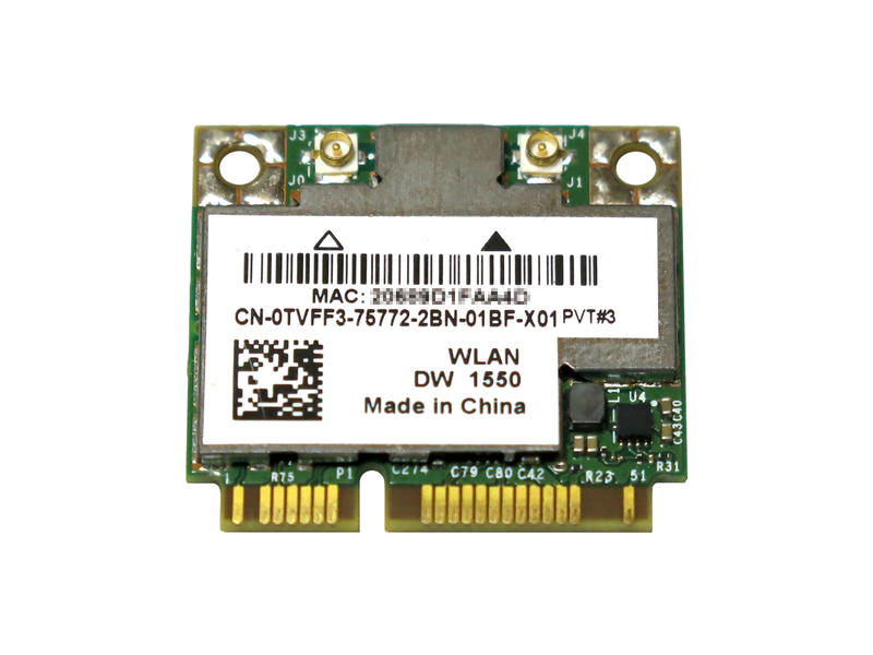 ノートパソコン用WiFi Bluetoothアダプタ802.11ac 国産品 867Mbps対応 WLC03042 Dell Wireless 1550 DW1550 WLAN ac対応 BCM94352HMB 毎日激安特売で 営業中です 802.11abgn 内蔵ワイヤレスLAN 2T2R 867Mbps BCM4352 BT Half-Miniカード