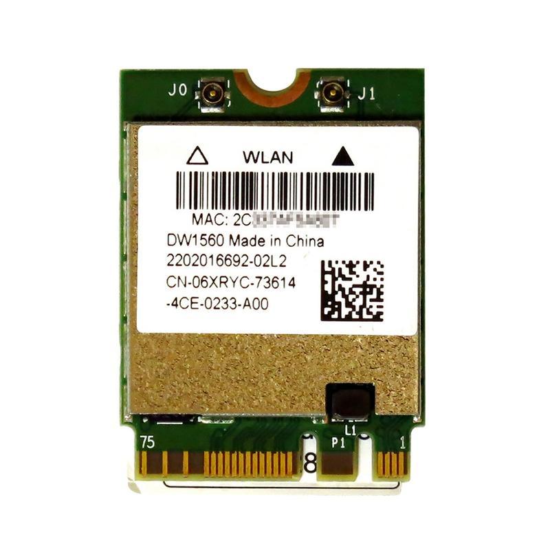 BCM94352Z BCM4352 Dell Wireless 1560 (DW1560) 867Mbps 802.11a/b/g/n/ac WLAN + Bluetooth 4.0 M.2 無線LANカード