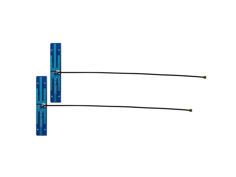汎用アンテナANT05-MHF4-120 高性能5dBi 2.4GHz 贈呈 5GHz 802.11a b g n ac対応 無線LANカード Wimax Cable=120mm WIFI Bluetoothモジュール用アンテナ 2本セット 全国一律送料無料 MHF4