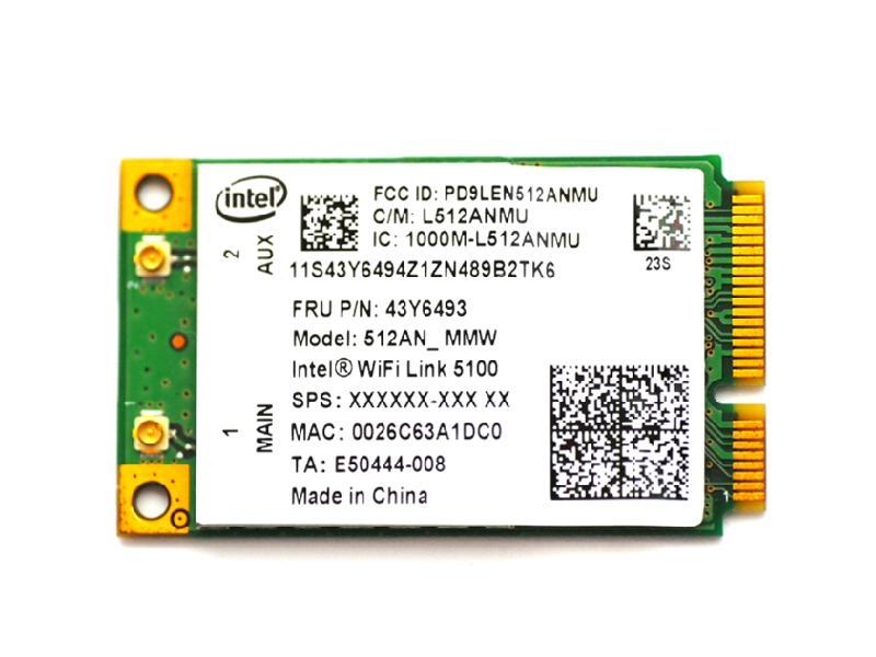 本物 ノートパソコン用無線LANアダプタ WLC01012 Lenovo純正 43Y6493 インテル Intel Wireless WiFi Link 5100 802.11a b g n 300Mbps PCIe Mini 無線LANカード for Lenovo T500 R400 G550 R500 SL300 SL500 SL400 SL500c N500 3000 X200s T400 割引 X301 Thinkpad Tablet X200 SL400c X300 W500