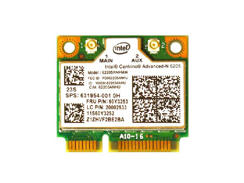 日本限定 ノートパソコン用無線LANアダプタ WLC01023 Lenovo HP純正 60Y3253 631954-001 Intel Centrino Advanced-N 6205 g 無線LANカード Mini 300Mbps half 802.11a PCIe b 本物 n