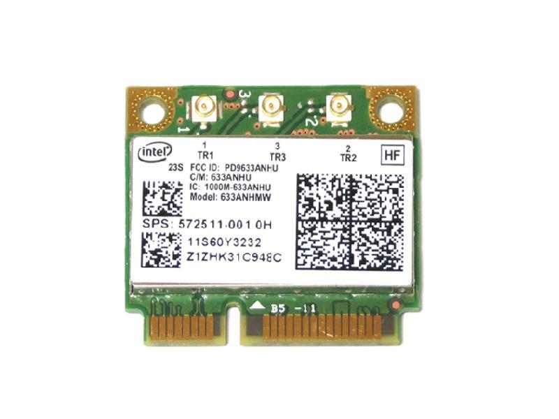 ノートパソコン用無線LANアダプタ WLC01025 Lenovo HP純正 サービス 60Y3233 572511-001 Intel Centrino Ultimate-N 6300 新作販売 g 450Mbps n 無線LANカード Mini b PCIe half 802.11a