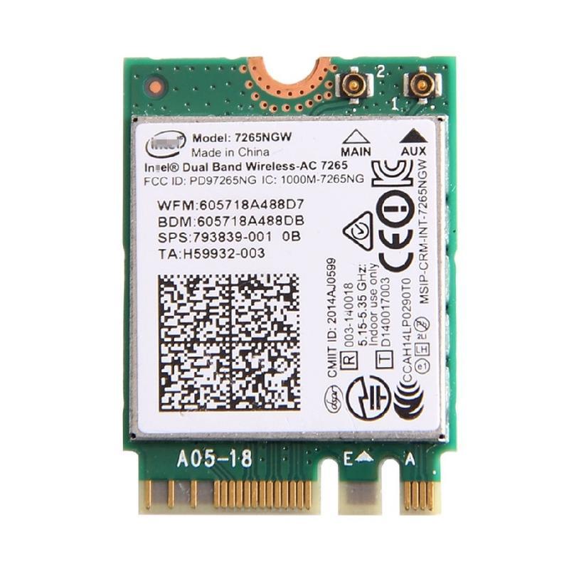 ノートパソコン用WiFi Bluetoothアダプタ WLC01073 インテル セール特価 Intel Dual Band Wireless-AC 7260 デュアルバンド Bluetooth 2020新作 M.2 無線LANカード 最大867Mbps 2.4 7260NGW 802.11ac 5GHz + 4.0