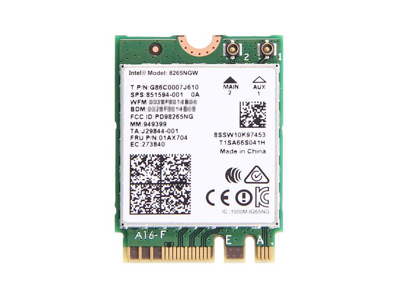 ノートパソコン用WiFi Bluetoothアダプタ WLC01086 Lenovo純正 Intel Dual Band 祝日 Wireless-AC 8265 推奨 802.11ac agn 867Mbps Wi-Fi + Bluetooth 4.2 P51 ThinkPad 無線LANカード T470s for E570 T470 L570 8265NGW X270 T470p E470 L470 P71 P51s