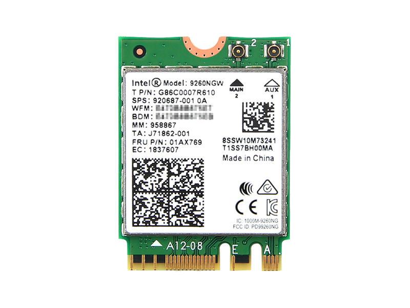 ノートパソコン用WiFi 公式ショップ Bluetoothアダプタ WLC01090 インテル Intel Wireless-AC 9260 5GHz 超特価 2.4GHz 802.11ac M.2 + 9260NGW 1.73Gbps MU-MIMO Wi-Fi Bluetooth 5 無線LANカード Combo