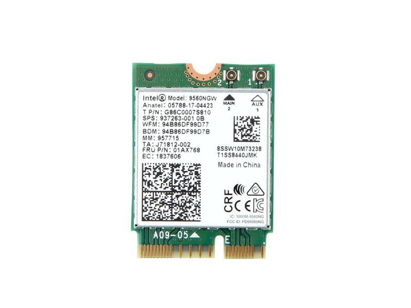 ノートパソコン用WiFi Bluetoothアダプタ WLC01091 インテル Intel Wireless-AC 9560 5GHz 2.4GHz 802.11ac MU-MIMO 1.73Gbps Bluetooth 9560NGW Combo 5 無線LANカード 安売り Wi-Fi + 10%OFF CNVi対応スロット専用 M.2