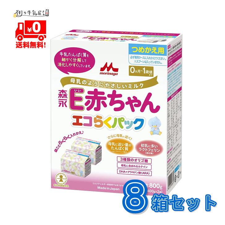 すべての牛乳たんぱく質を細かく分解し消化負担に配慮しています母乳に含まれるラクトフェリン 消化物 3種類のオリゴ糖などを配合し栄養成分を母乳に近づけています 直輸入品激安 送料無料 森永乳業 ペプチドミルク E赤ちゃん 8箱 粉ミルク つめかえ用 一般製品 エコらくパック フォローアップ morinaga 森永 推奨