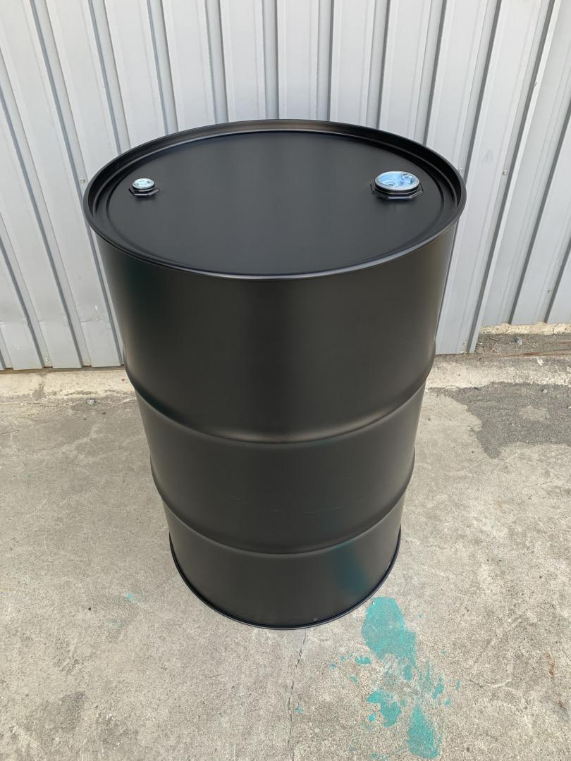 マットブラック 200Lクローズドラム缶 (内面塗装無し)【北海道・沖縄・離島は送料別途】