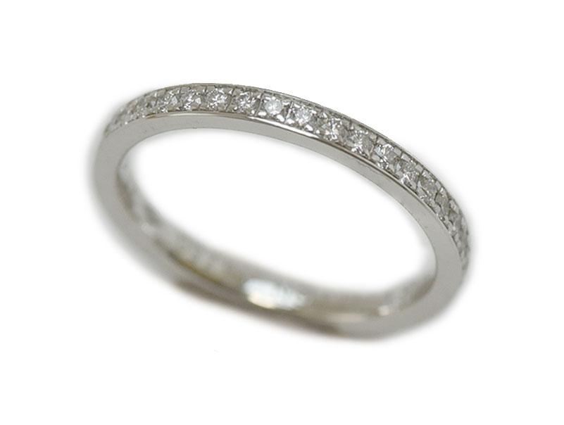 LOUIS VUITTON ルイ ヴィトン ホワイトゴールド フルエタニティリング 指輪 Au750 ダイヤモンド 【中古】 新品仕上げ済 メーカー仕上げ済