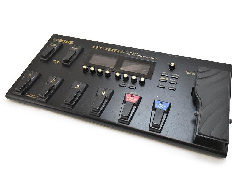 BOSS GT-100 AMP EFFECTS PROCESSOR ハイエンドアンプ エフェクツ プロセッサ 【中古】 【ワケ有】 電源コード欠品