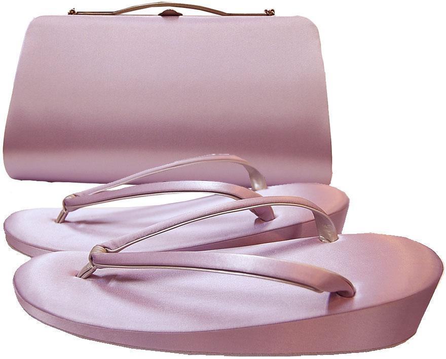 法事用ぞうりとバッグのセット・紫