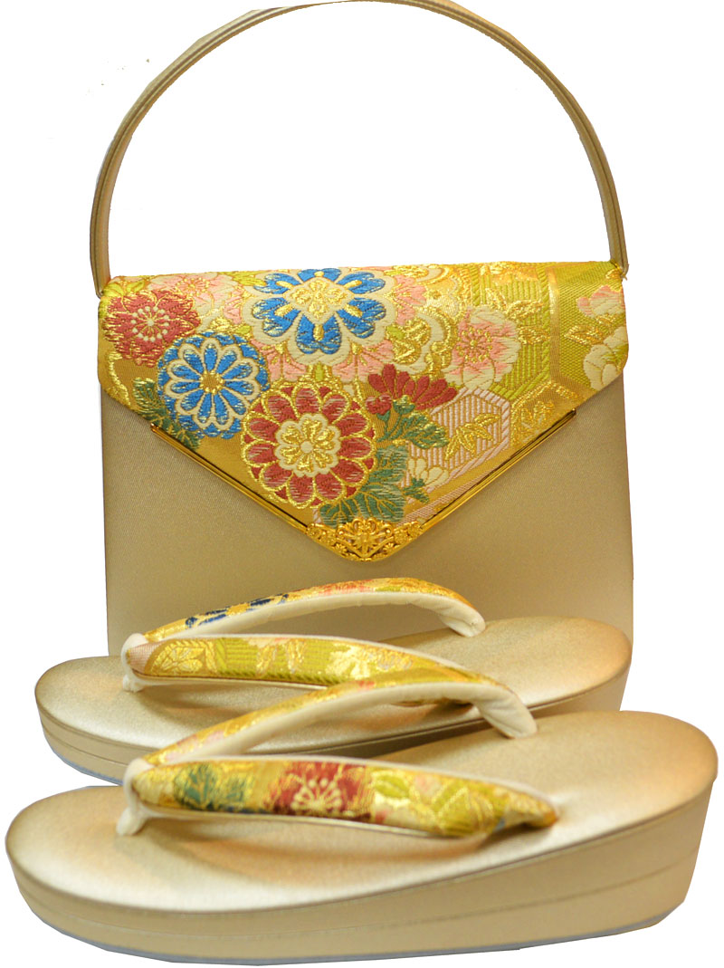 佐賀錦のバッグとMサイズ草履のセット