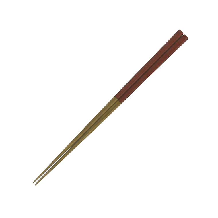 煤竹塗分箸 赤 天然竹 22.5cm(名入れ不可)(16_17_P2_18)