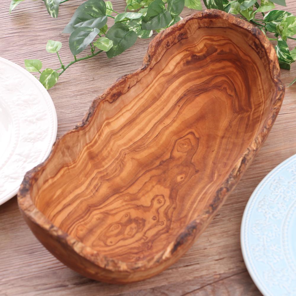 一点モノの 激安通販販売 一生モノ 卸売り ドリス オリーブの木をくり抜いたようなフルーツボール ラスティックフルーツボール 35 オリーブウッド