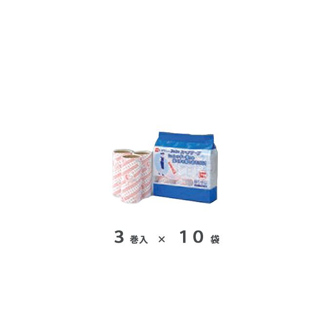 【まとめ買い】カーペット用 オフィスコロコロ スタンダードスペア 187mm 3巻×10袋 (テラモト CL-664-711-0x10) お掃除 清掃