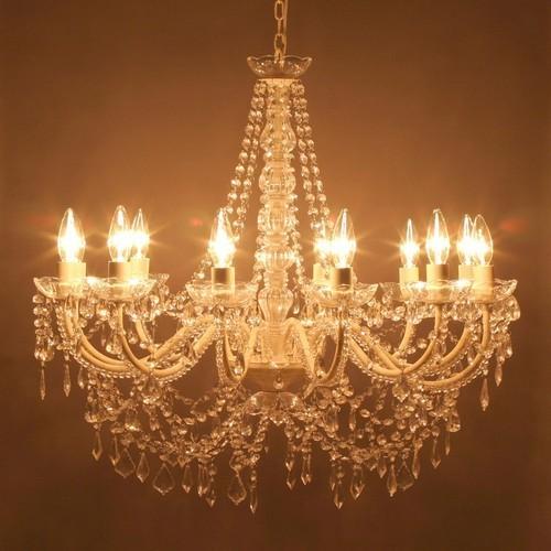 照明 12灯 シャンデリア アンティーク ヨーロッパ調 豪華 おしゃれ /オペラ/クリーム