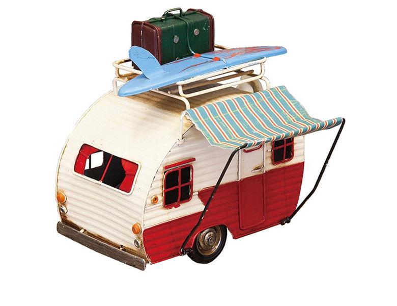 ヴィンテージカー ブリキおもちゃ サーフトラック キャンピングカー オブジェ  ガレージグッズ