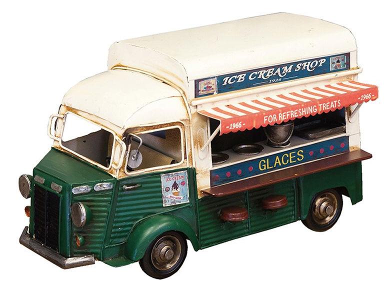 ブリキおもちゃ 模型 アイスクリームショップ キャンピングカー アメリカ雑貨 ハワイ アンティーク