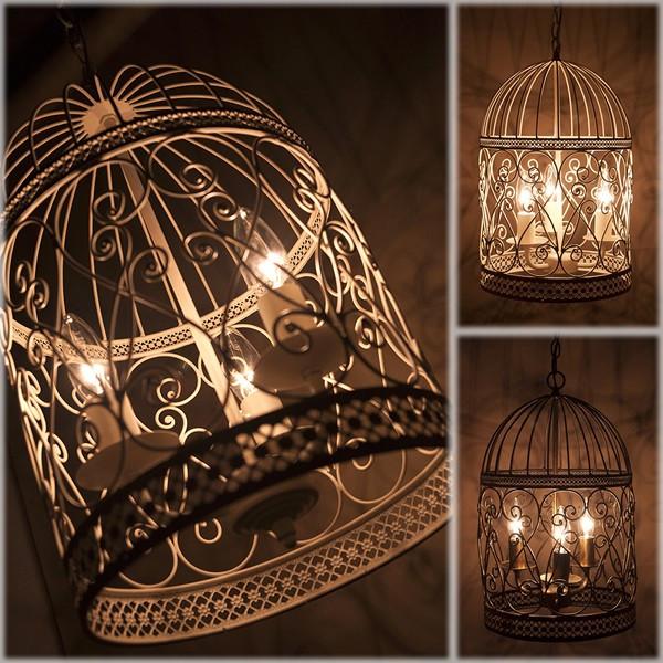 照明器具 3灯 シャンデリア 鳥かご / バードケージ