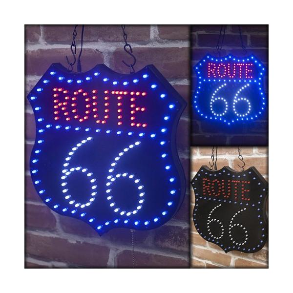 照明 壁面照明 ガレージ照明 おしゃれ オールドアメリカン LED電飾 ダイカットボード ルート66 Route 66