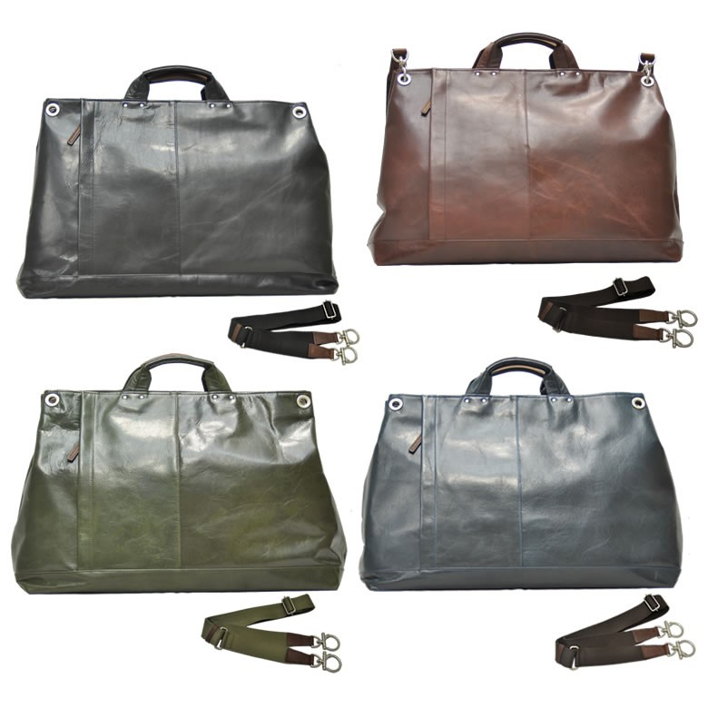 CROSSROAD crossroads men's tote bag men's business bag large zippered Boston bag leather leather 2-way bag shoulder bag tote bag store cowhide people like brand-P06Dec14