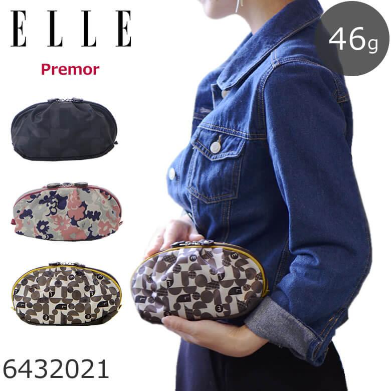 da65285bc8c3 【ネコポス対応】 ELLE エル ポーチ 小物入れ かわいい ブランド おしゃれ 化粧 小物 ナイロン メイク