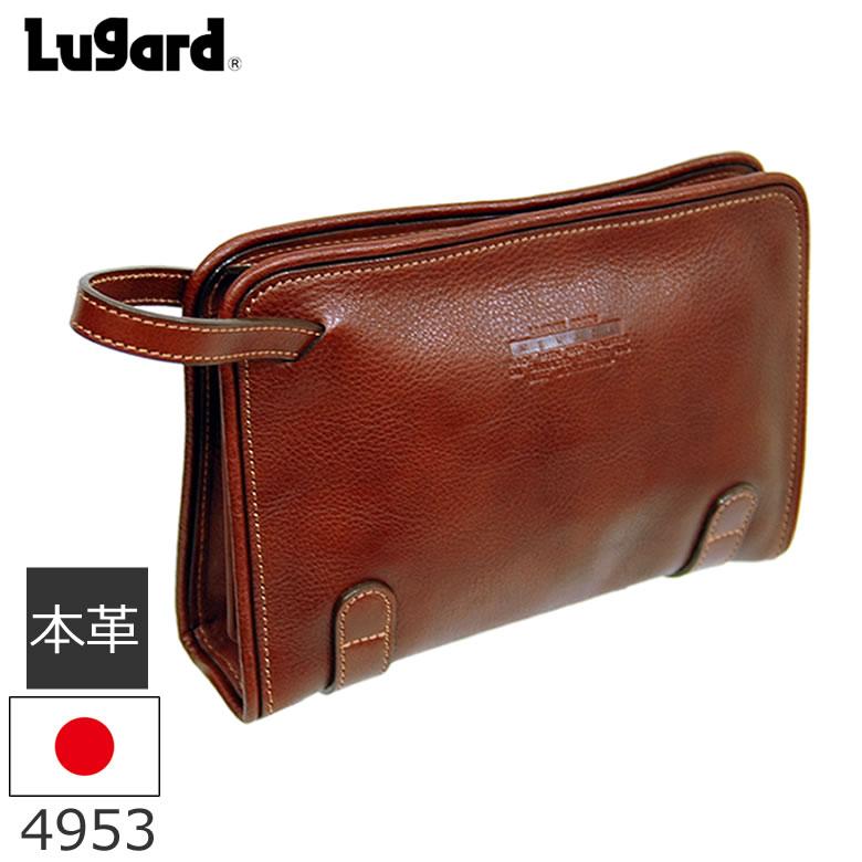 青木鞄 Lugard NEVADA セカンドバッグ メンズ 本革 ブラウン 日本製 4953 ギフト プレゼント メンズ・父の日・新生活
