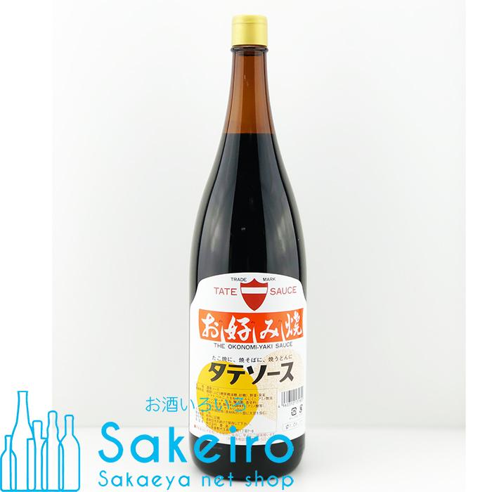 【晴れの国おかやま特産品】 タテ お好み焼きソース 金キャップ 1800ml 瓶