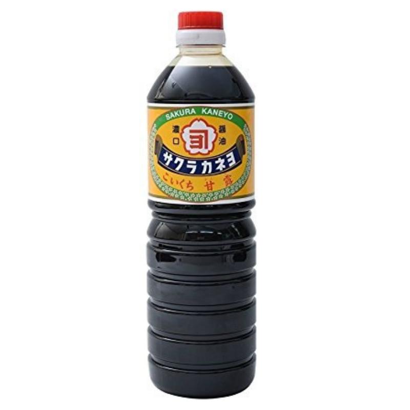 鹿児島の甘い醤油です 新作続 売り込み サクラカネヨ 甘露 1リットル