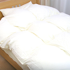 Solid natural luxury down comforter Queen size Hungary produced white down 90% used 60 satin Super extra-long staple cotton fabric (60 EHDQ) 10P13oct13_b fs04gm.
