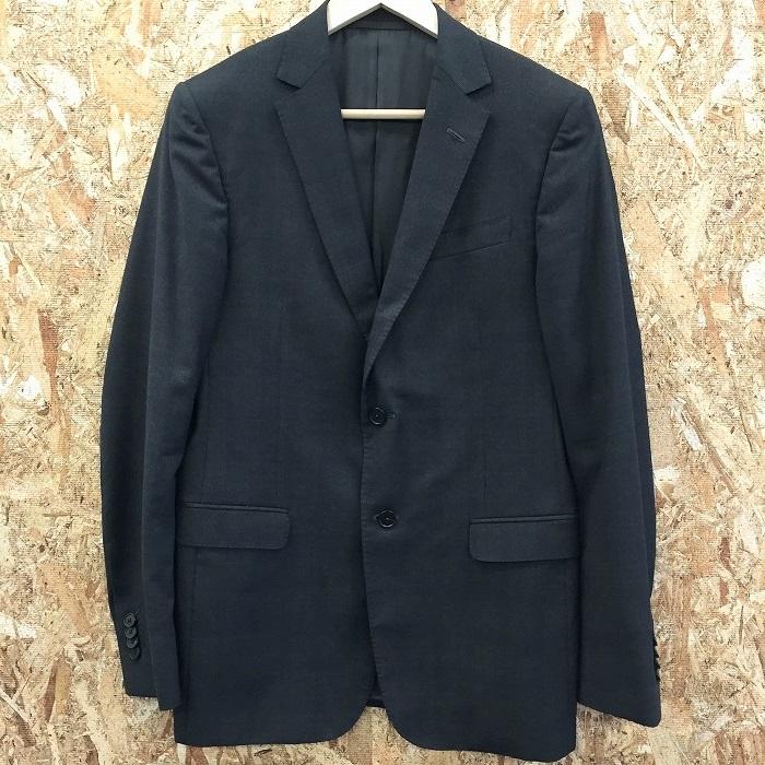 【中古】ジーゼニア ドロップ8 メンズ スーツ 上下セットアップ チェック ブラック サイズ表記:8-48R[jggI]