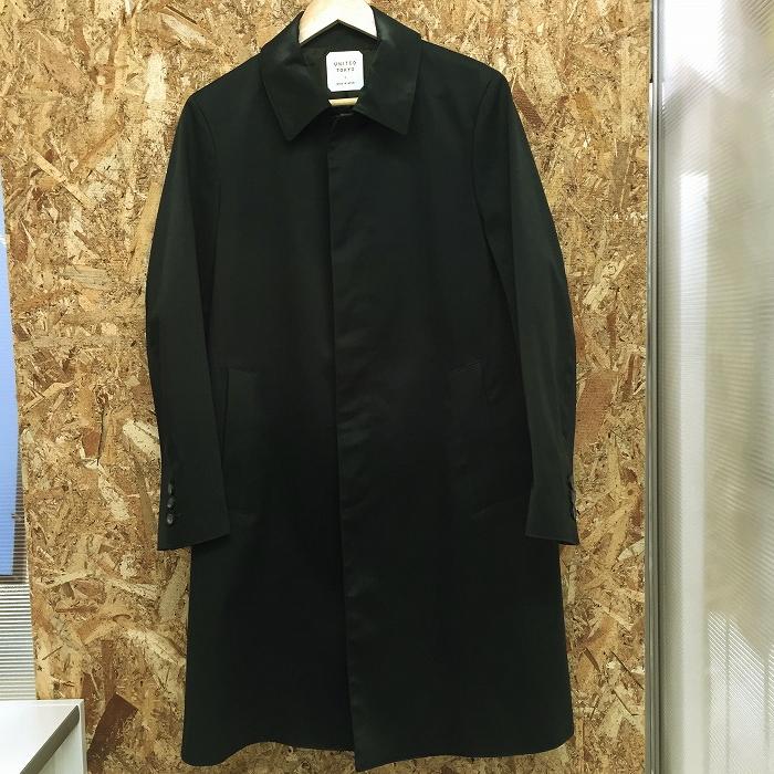 【中古】ユナイテッドトーキョー メンズ ステンカラーコート スリーレイヤー ブラック 表記サイズ:1[jggI]