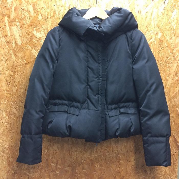 【中古】モンクレール ORNE レディース ダウンジャケット ナイロン ブラック 表記サイズ:0[jggI]