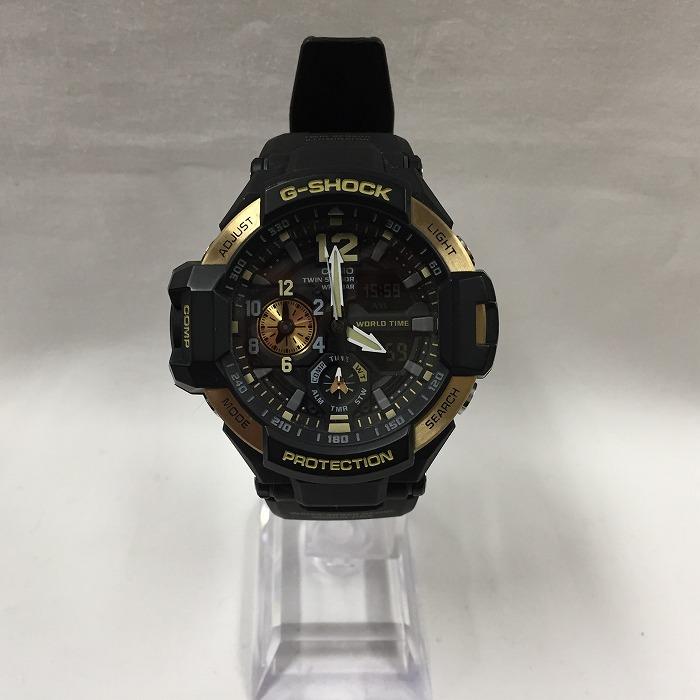 【中古】カシオ Gショック グラビティマスター メンズ腕時計 クオーツ ブラック系 GA 1100 9G [jggW]