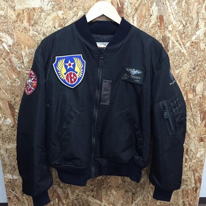 【中古】テッドカンパニー MA1 メンズジャケット ブラック サイズ40[jggI]