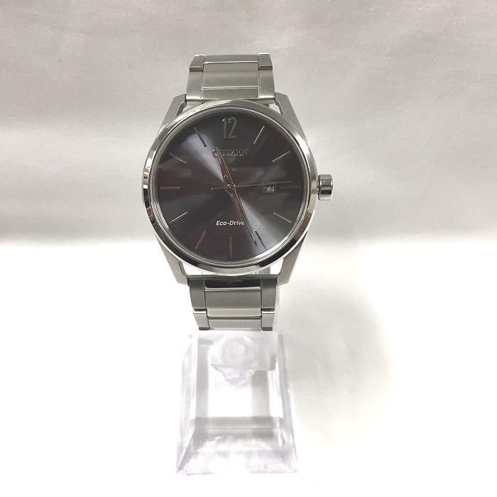 CITIZEN SOLAR 期間限定で特別価格 市販 美品 中古 シチズン エコドライブ メンズ腕時計 GN-4-S SS E111-S114128 シルバー ソーラー グレー文字盤 jggW