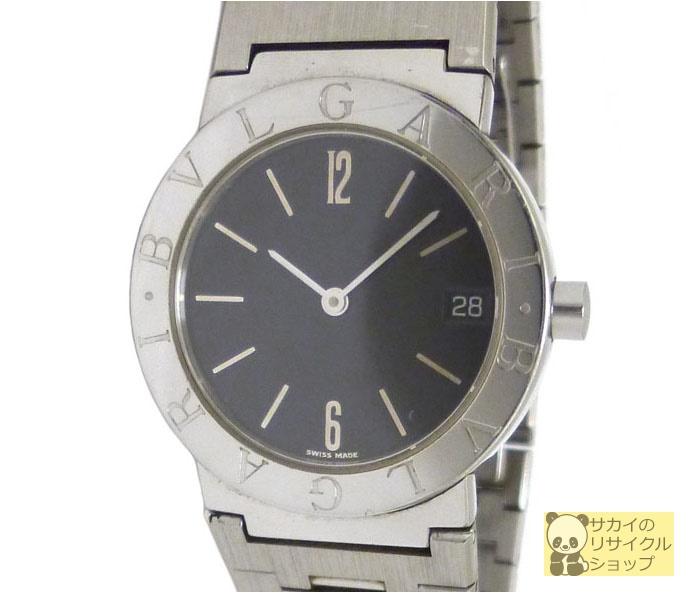 ブルガリ BVLGARI ボーイズ腕時計 SS クオーツ ブラック文字盤【中古】
