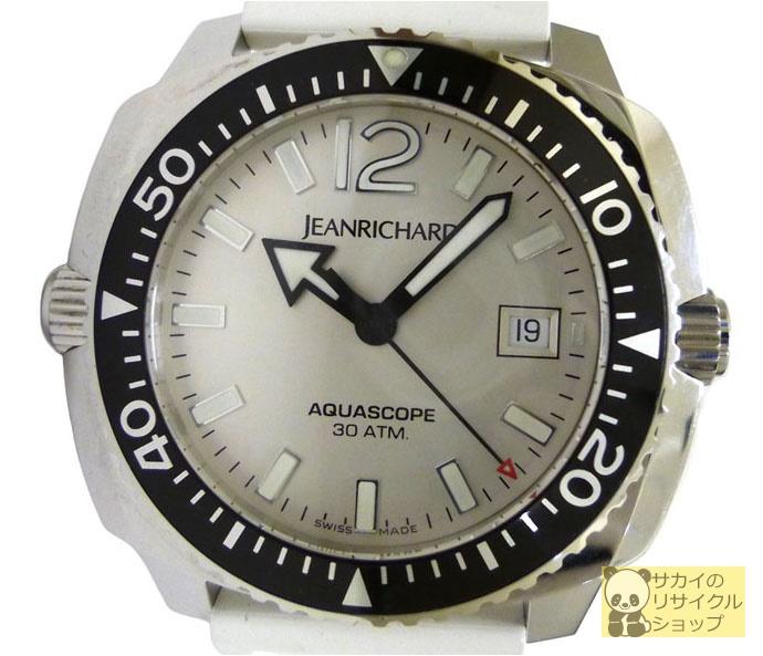 JEANRICHARD ジャンリシャール メンズ腕時計 アクアスコープ SS×ラバー(ホワイト) 自動巻き(オートマチック:AT) シルバー文字盤【中古】