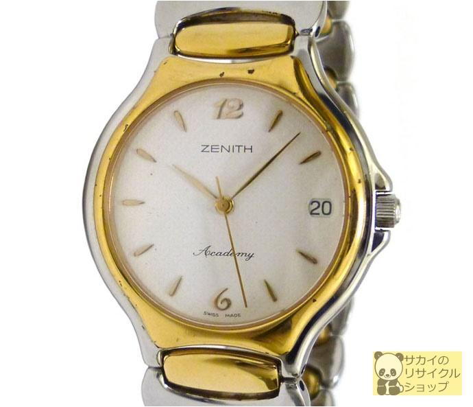 ZENITH ゼニス ボーイズ腕時計 アカデミー SS×GP クオーツ ホワイト文字盤【中古】