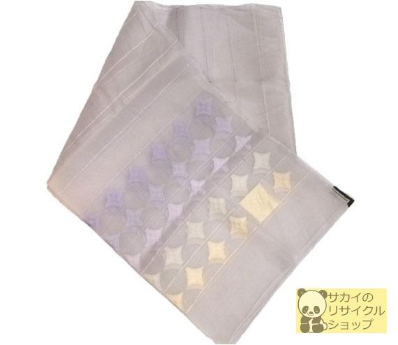 LOUIS VUITTON モノグラム 大判スカーフ ストール レース パープル(紫) シルク100%【中古】