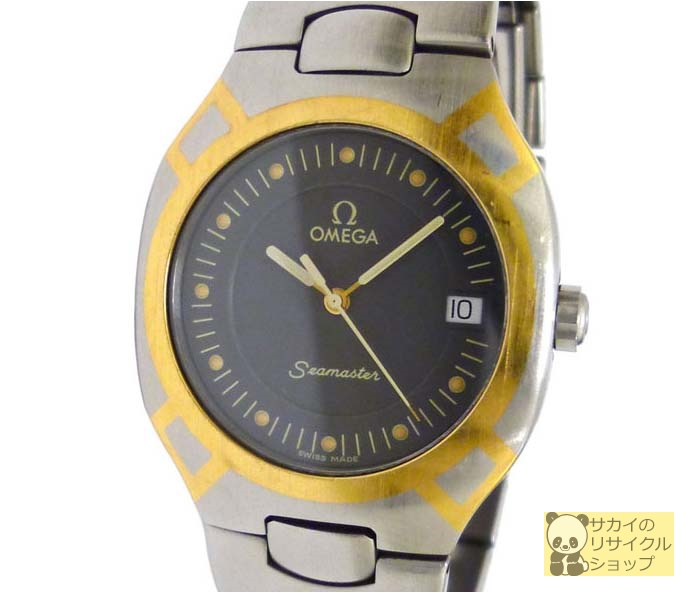 OMEGA ボーイズ腕時計 ポラリス SS×GP クオーツ グレー文字盤【コンビニ受取対象】【中古】