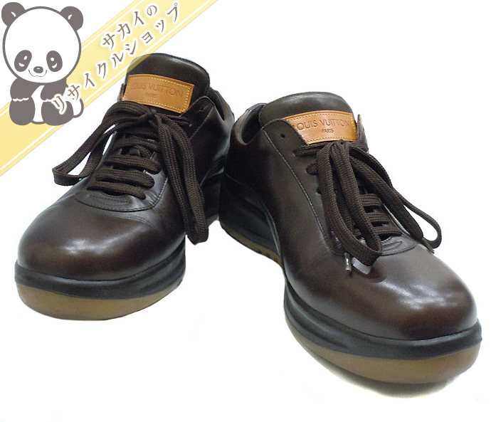 LOUIS VUITTON ビジネスシューズ レザー ブラウン 表記サイズ:6 1/2 【shoes】【中古】