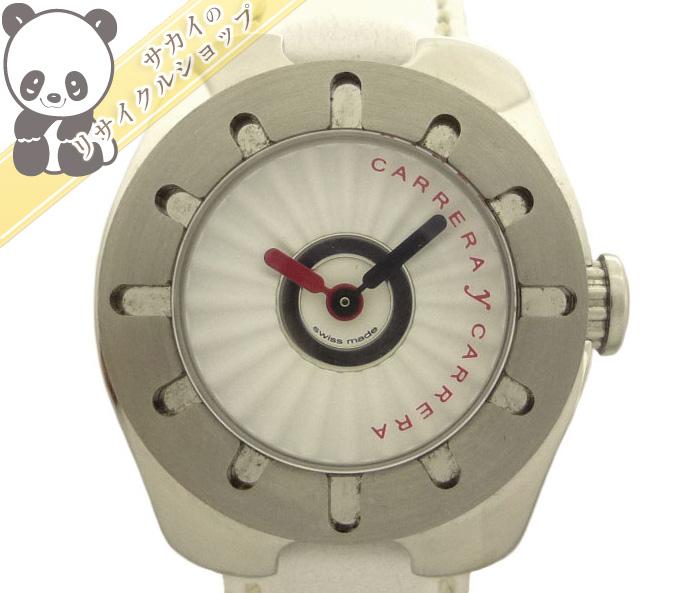 CARRERA Y CARRERA カレライカレラ レディース腕時計 アバロンミニ SS×レザー クオーツ ホワイト文字盤 【レディース】【Watch】【中古】